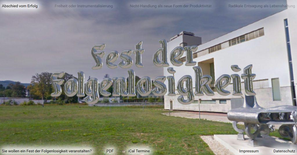 Screenshot der Projektwebsite