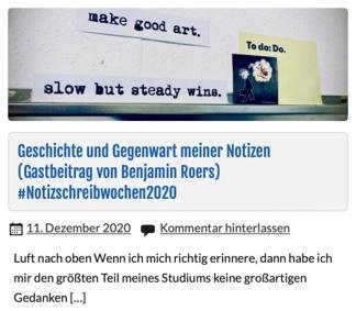 Zu sehen ist die Aufschrift: make good art. alow but steady wins.