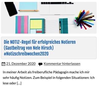 Zu sehen ist ein Notebook, Notizhefte und Stifte